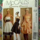 McCalls Pattern # 5382 UNCUT Misses Evening Dress Size 4 6 8 10 12