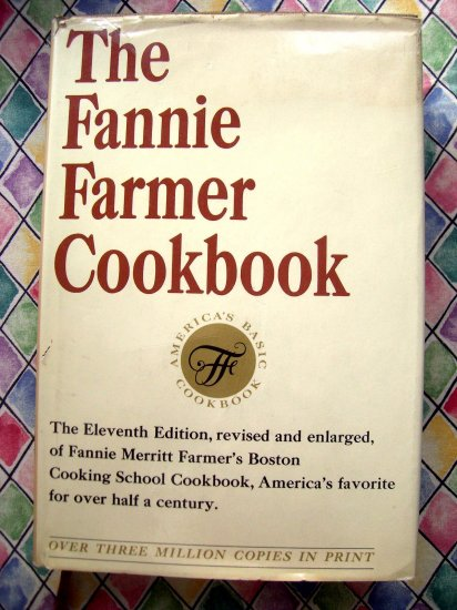 Vintage Fannie Farmer Cookbook Gold Cover 11th Edition 1965 Classic Comfort Food Recipes