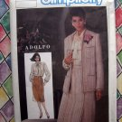 Simplicity Pattern # 6733 UNCUT Adolfo Misses Skirt Blouse Lined Jacket Size 14