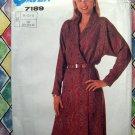 Super Saver Pattern # 7189 UNCUT Misses Wrap Dress Size 10 12 14