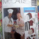 McCalls Pattern # 2233 UNCUT Chef /Cook Uniform Hat Apron ~ Size Medium Adult
