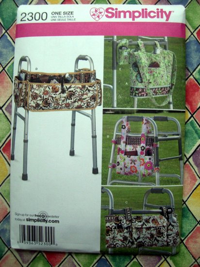 Simplicity Pattern # 2300 UNCUT Walker Bags & Totes
