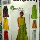 Simplicity Pattern #7513 UNCUT Misses Skirt Pants Size Large XL