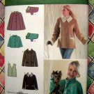 Simplicity Pattern # 3958 UNCUT Misses Jacket Capelet Two Lengths Vest Size XS S M + Dog Coat