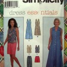 Simplicity Pattern # 8205 UNCUT Misses Dress Vest Pants Shorts Sizes 14 16 18