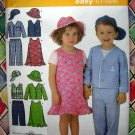 Simplicity Pattern # 4247 UNCUT Toddlers Jumper Pants Jacket Vest Hat Sizes 1/2 1 2 3 4