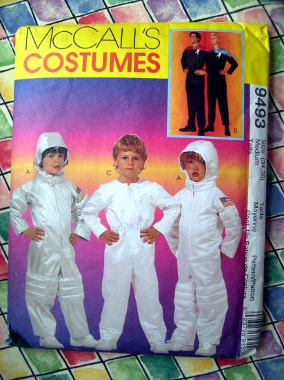 SOLD! McCalls Pattern # 9493 UNCUT ADULT Costume Astronaut Space Suit Size MEDIUM