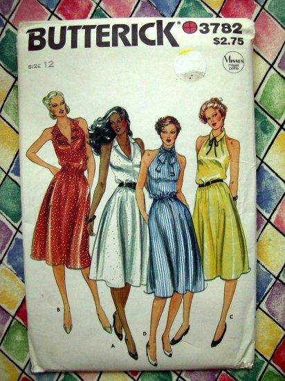 SOLD! Butterick Pattern # 3782 UNCUT Misses Halter Dress Size 12
