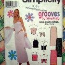 Simplicity Pattern # 9129 UNCUT Junior Long Skirt Knit Halter Top Size 3/4 5/6 7/8 9/10