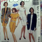 McCalls Pattern # 6512 UNCUT Misses Dress Unlined Jacket Size 12 14 16