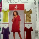 McCalls Pattern # 5750 UNCUT Misses Pullover Dress STRETCH KNITS ONLYS Size 6 8 10 12 14