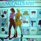 McCalls Pattern # 5727 Rare 1977 Accessories Leg Warmers Belt One Size