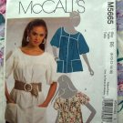 McCalls Pattern # 5665 UNCUT Misses Blouse or Top Size 8 10 12 14 16