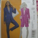 McCalls Pattern # 6043 UNCUT Misses Lined Jacket Pants Shorts Size 6 8 10 12