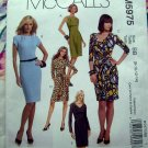 McCalls Pattern # 5975 UNCUT Misses Knit Dress Size 8 10 12 14