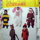 McCalls Pattern # 3755 UNCUT Toddler / Childs Costume Size 1 2 3 4 Bee Bunny Santa Cat Crayon