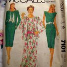 Vintage 1980 McCalls Pattern # 7101 Misses Dress Jacket Size 10
