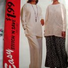 McCalls Easy Pattern # 6829 UNCUT Misses Top Skirt Pants Size Large XL