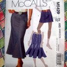 McCalls Pattern # 5429 UNCUT Skirt Variations Size 4 6 8 10 12