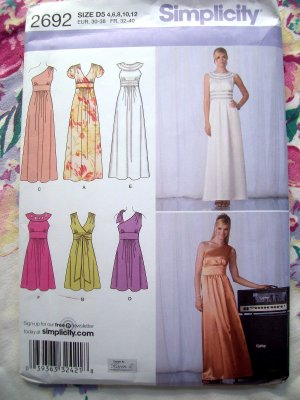 Simplicity 5349 Vintage 70s Sewing Pattern Halter Maxi Dress Prom