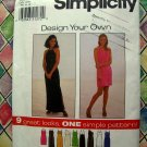 Simplicity Pattern # 8015 UNCUT Misses Design Your Own KNIT DRESS Size 16 18 20