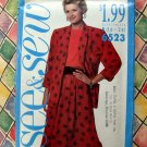 Butterick / See & Sew Pattern # 6523 UNCUT Misses Jacket Top Skirt Size 16 18 20 22 24