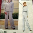 Vogue Pattern # 1554 UNCUT Misses Jacket Pants Calvin Klein Size 6 8 10