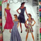 McCalls Pattern # 6513 UNCUT Misses Summer Dress Size 4 6 8