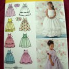 Simplicity Pattern # 3943 UNCUT Girls Special Occasion Dress Size 5 6 7 8