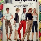 Simplicity Easy Pattern # 9064 UNCUT Misses Slim Pants or Capri  Size 6 8 10 12 14 16