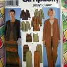 Simplicity Pattern # 7099 UNCUT Misses Wardrobe Size 8 10 12 14 Top Skirt Jacket Pants