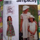 Simplicity Pattern # 9459 UNCUT Girls DRESS & HAT Size 3 4 5 6
