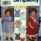 Simplicity Pattern # 9492 UNCUT Infant Toddler Girls Dress Size 1/2 1 2 3 4