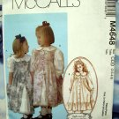 McCalls Pattern # 4648 UNCUT Girls Dress & Pinafore Size 2 3 4 5