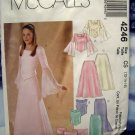 McCalls Pattern #4246 UNCUT Girls/Plus Formal Top Skirt Stole Special Occasion Size 12 14 16