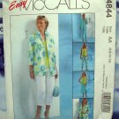 McCalls Pattern # 4844 UNCUT Misses Misses Wardrobe Shirt Jacket Pants Top Skirt Size 6 8 10 12