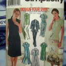 Simplicity Pattern # 7162 UNCUT Misses Dress Top Skirt Sizes 6 8 10 12
