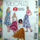 McCalls Pattern # 4875 UNCUT Misses Flared Skirt Size 14 16 18 20