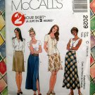 McCalls Pattern # 2029 UNCUT Misses Skirt Various Lengths Size 10 12 14