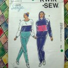 KWIK SEW Pattern # 2313 UNCUT Misses Jogging Sweat Pants  Top STRETCH FABRICS  Size XS S M L XL