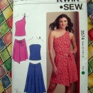 KWIK SEW Pattern # 3574 UNCUT Misses Summer Top & Skirt Stretch Knits Size XS S M L XL