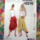 KWIK SEW Pattern # 3286 UNCUT Misses Summer Skirt Size XS S M L XL