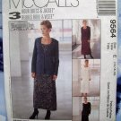 McCalls Pattern # 9564 UNCUT Misses Dress  Jacket Size 14 16 18