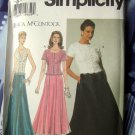 Simplicity Pattern # 7436 UNCUT Misses Special Occasion Top Skirt Size 12 14 16