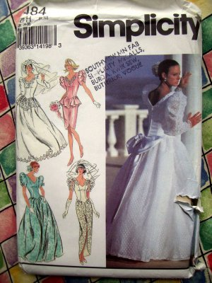 Simplicity Pattern # 8484 UNCUT Misses Wedding Dress Bridal Gown Size 6 8 10