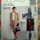 McCalls Pattern # 2400 UNCUT Misses Unlined Jacket Pants Skirts Size 12 14 16