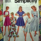Simplicity Pattern # 7863 UNCUT Misses Circle Dress Variations Size 12 14 16