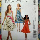 McCalls Pattern # 5582 UNCUT Misses Summer Empire Dress Belt Size 14 16 18 20