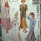 McCalls Pattern # 6324 UNCUT Misses Top Full Skirt Size Medium Large XL