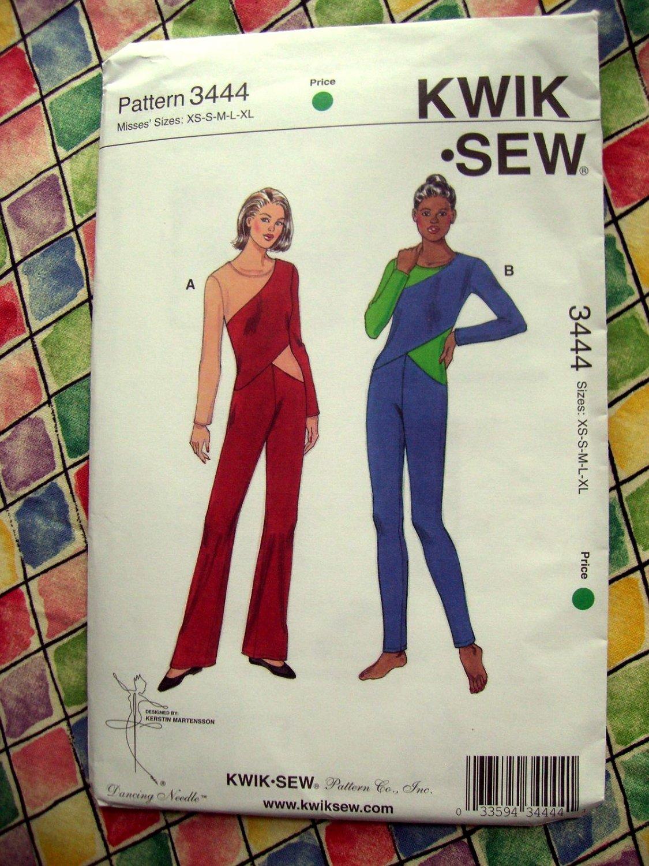 SOLD! Kwik Sew Pattern # 3444 UNCUT Misses Leotard Unitard Size XS Small Medium Large XL